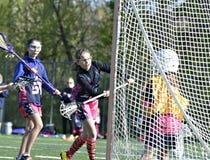Lacrosse das raparigas Foto de Stock Royalty Free