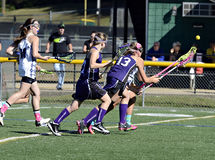 Lacrosse das raparigas Imagens de Stock