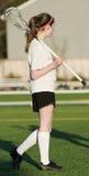 Lacrosse de filles de lycée Photographie stock libre de droits