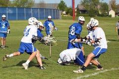 Lacrosse de la High School secundaria Fotografía de archivo libre de regalías