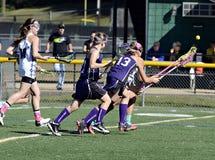 Lacrosse delle ragazze Immagini Stock