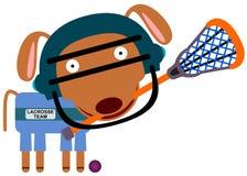 Lacrosse do cão ilustração stock