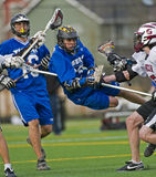 Lacrosse do JV dos meninos Fotografia de Stock Royalty Free