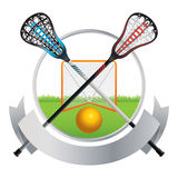 Lacrosse Emblem and Banner Design Stock Photography