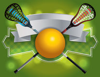 Lacrosse Emblem and Banner Illustration Stock Images