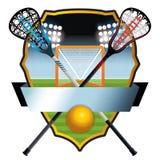 Lacrosse Emblem and Banner Illustration Royalty Free Stock Image