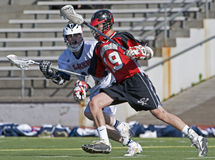 Lacrosse eye on the ball Stock Images