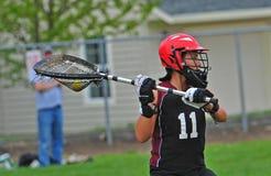 lacrosse för 3 goalie Arkivfoto
