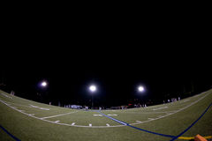 Lacrosse Field During Night Game Royalty Free Stock Image