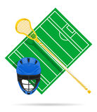 Lacrosse field vector illustration Stock Image
