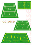 Lacrosse fields set. Stock Image