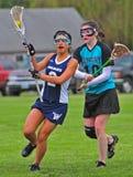lacrosse för 02 flickor Royaltyfri Bild