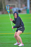 Lacrosse game face Royalty Free Stock Photos