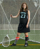 Lacrosse girl goalie Royalty Free Stock Photography