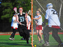 Lacrosse girls first goal Stock Images