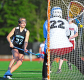 Lacrosse girls goal Royalty Free Stock Images