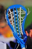 Lacrosse Girls stick head strings. Abstract of a Girls High School Lacrosse head strings stock images