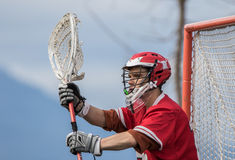 Lacrosse Goalkeeper Stock Photography