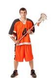 Lacrosse Gracz Obrazy Royalty Free