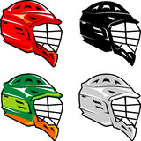 Lacrosse Helmet Set Isolated Background Royalty Free Stock Photos