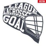 Lacrosse helmet with typography Stock Photography
