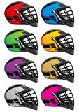 Lacrosse Helmets Icons EPS Royalty Free Stock Images