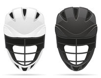 Lacrosse helmets vector illustration Royalty Free Stock Image