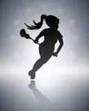 Lacrosse-Hintergrund Lizenzfreies Stockfoto