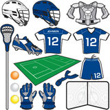 Lacrosse Items. Items/Equipment used in the sport of Lacrosse Royalty Free Stock Photography