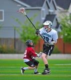 Lacrosse keep away royalty free stock photo