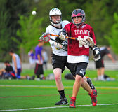 Lacrosse keep away royalty free stock photography
