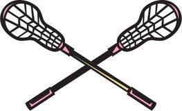 Lacrosse kija Woodcut royalty ilustracja