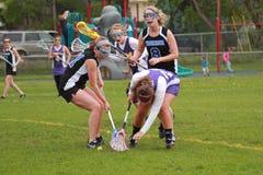 lacrosse kobiety Obrazy Royalty Free