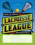 Lacrosse League Template Design Stock Images
