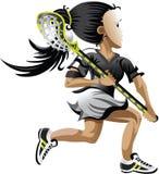 Lacrosse-Mädchen Stockfoto
