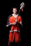 Lacrosse Player Stock Photo