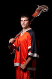 Lacrosse Player Stock Photo