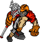 Lacrosse Player Cartoon. Vector Image Royalty Free Stock Images