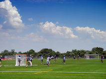Lacrosse players. In action on the Floyd Bennet field in Brooklyn, New York Stock Photo