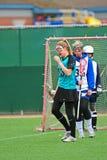 Lacrosse se os olhares poderiam matar Foto de Stock