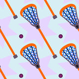 Lacrosse Seamless Background Design Stock Image