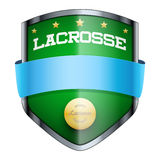Lacrosse Shield badge Royalty Free Stock Image