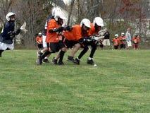 Lacrosse - Spiel der kleinen Liga   Stockfotos