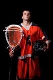 Lacrosse-Spieler stockfotos