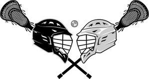 Lacrosse-Sport gegen Stockfotos