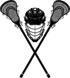 Lacrosse Sports Equipment. Front view silhouette of sports symbol Royalty Free Stock Photography