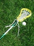 Lacrosse-Steuerknüppel und Kugel Lizenzfreies Stockfoto