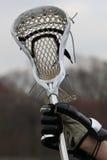 Lacrosse stick. Player holding a lacrosse stick Stock Photo