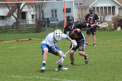 Lacrosse-Tätigkeit Lizenzfreie Stockfotografie