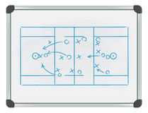 Lacrosse tactic on whiteboard Stock Image